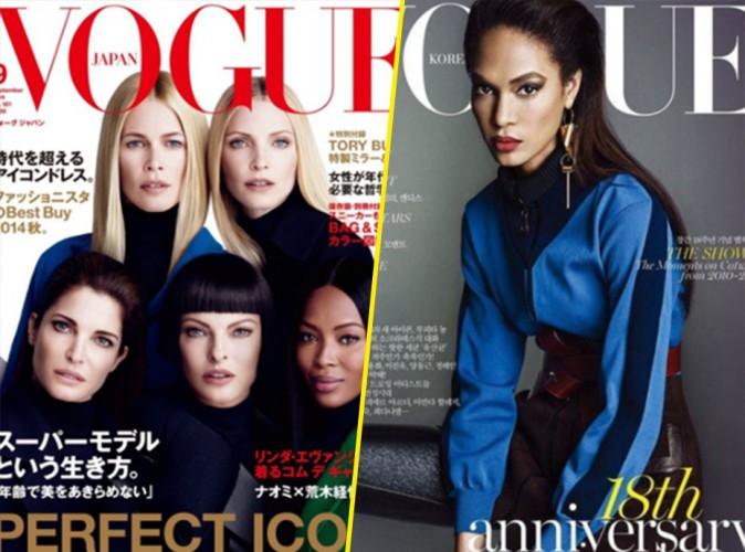 Des super-models pour les couv' de Vogue Japan, septembre 2014, et Vogue Korea, août 2014 !