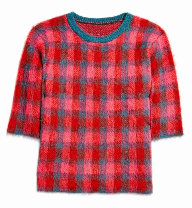 Pull à carreaux en laine, Asos 46 €