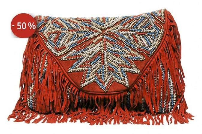 Pochette à franges, Antik Batik sur sarenza.com