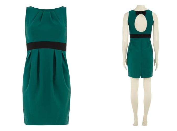 Robe plissée verte à 52€