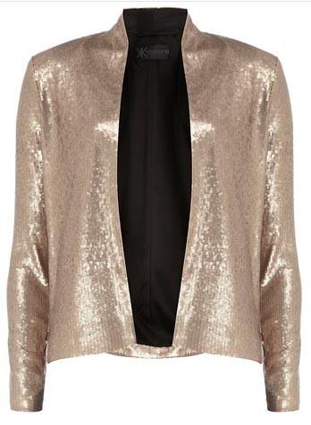 Veste dorée à paillettes à 65€