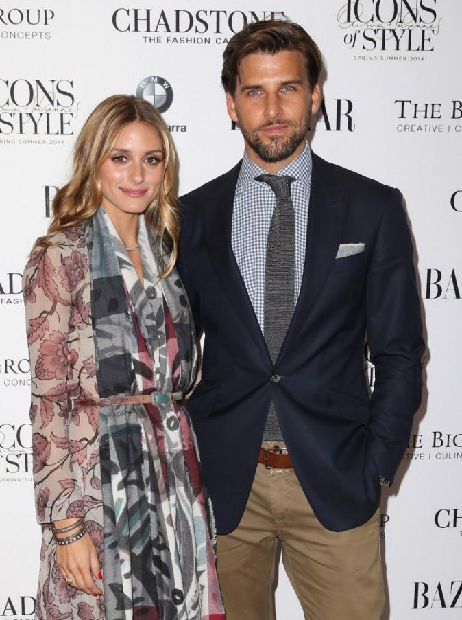 Olivia Palermo et Johannes Huebl à Melbourne le 27 août 2014