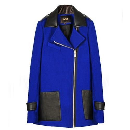 Manteau bleu électrique Maje 445 €