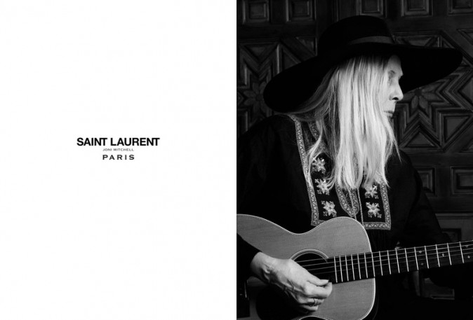 Joni Mitchell pour Saint Laurent