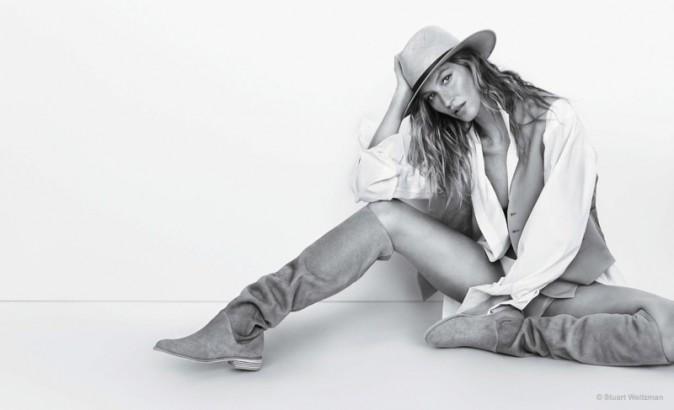 Mode : Photos : Gisele Bündchen : torride, elle dévoile ses jambes interminables pour Stuart Weitzman !