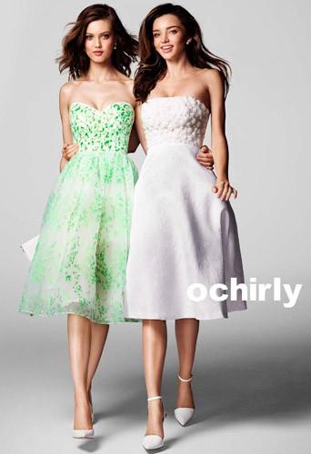 Mode : Photos : Miranda Kerr : jeune fille en fleur pour Ochirly !