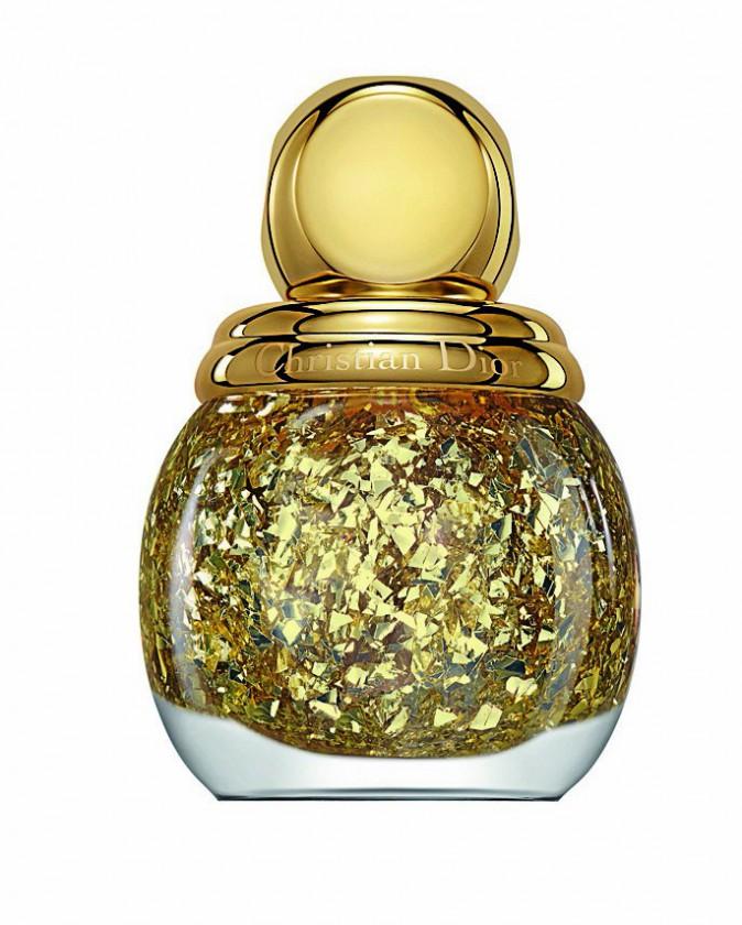 Vernis Diorific Golden Shock top coat effet feuille d'or, Dior 29€