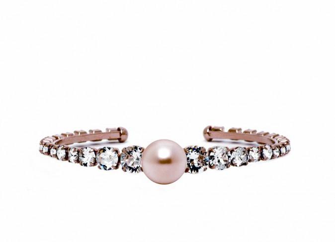 Bracelet perle et cristaux, Hélène Zubeldia 125 €