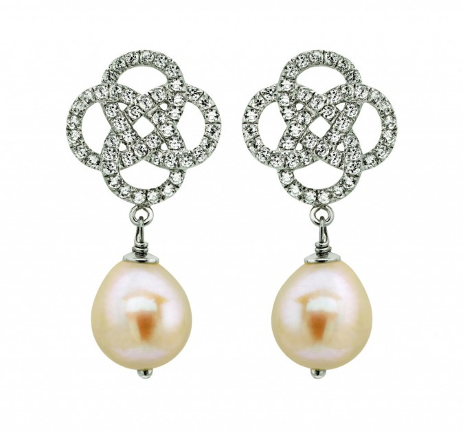 Pendants d'oreilles perle et argent, Histoire d'Or 89 €
