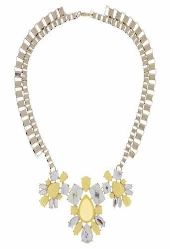 Collier de pierres blanches et jaunes, New Look 14,99€