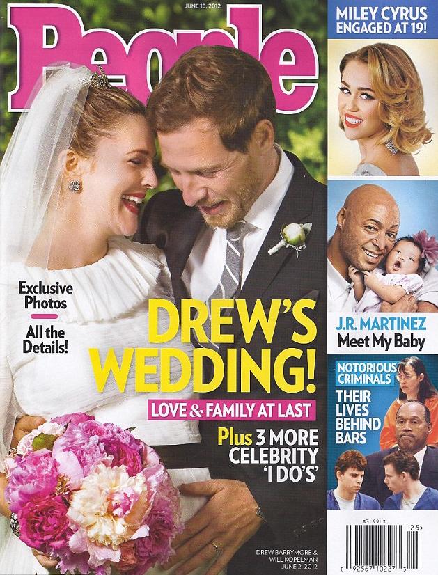 Drew Barrymore et sa robe de mariée signée Chanel ...