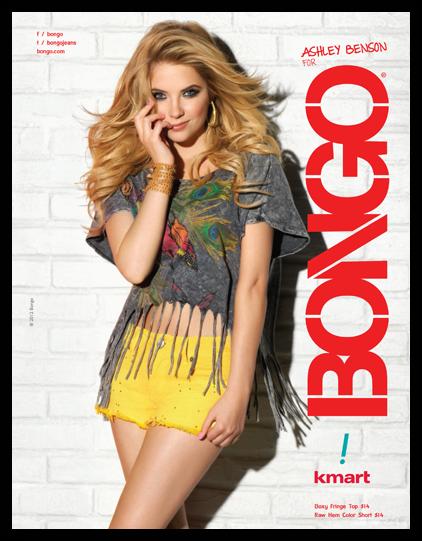 Ashley Benson pour la nouvelle collection de Bongo