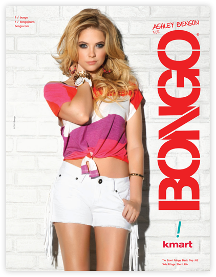 Ashley Benson pour la nouvelle collection de Bongo
