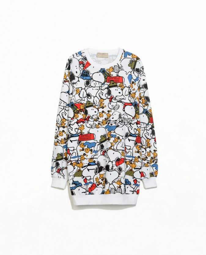 Sweat imprimé Snoopy, Zara 29 €