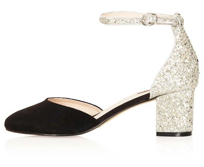 Chaussures pailletées, Juniper, sur topshop.com 64 €