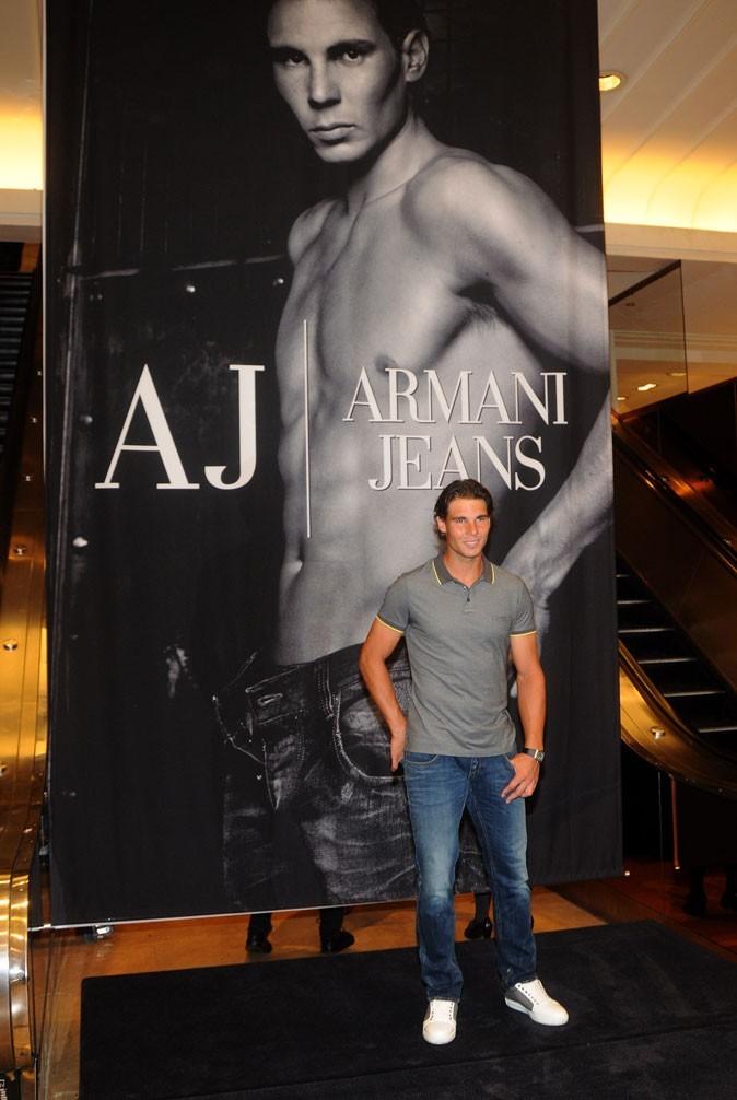 Le tennisman présente la nouvelle collection Armani chez Macy's