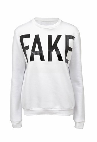 "Sweat ""Fake"" en coton mélangé, Asos 38 €"