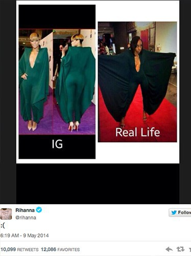 Le premier tweet de Rihanna !