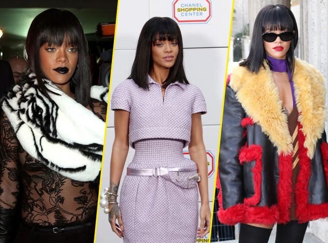 Les looks de Rihanna à la Fashion Week de Paris !