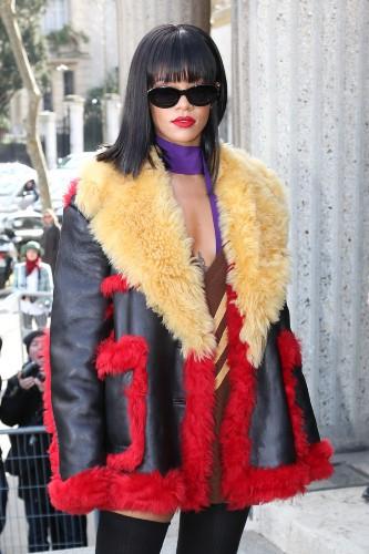 Rihanna au défilé Miu Miu