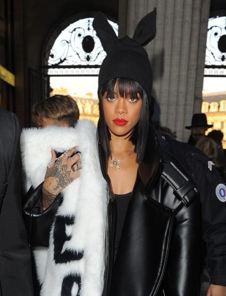 Rihanna au défilé Vivienne Westwood
