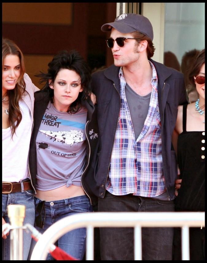 """Avec Kristen Stewart lors de la promo du film """"Twilight New Moon"""""""