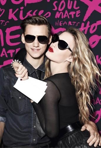 Saint-Valentin : Georgia May Jagger et son boyfriend pour Sunglass Hut
