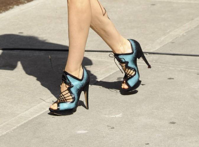 De belles chaussures bleues !
