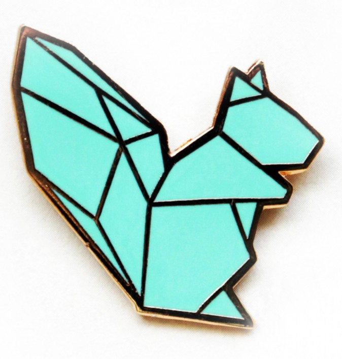 "Broche ""Tangram Squirrel"" place-a.com 21,50 €"