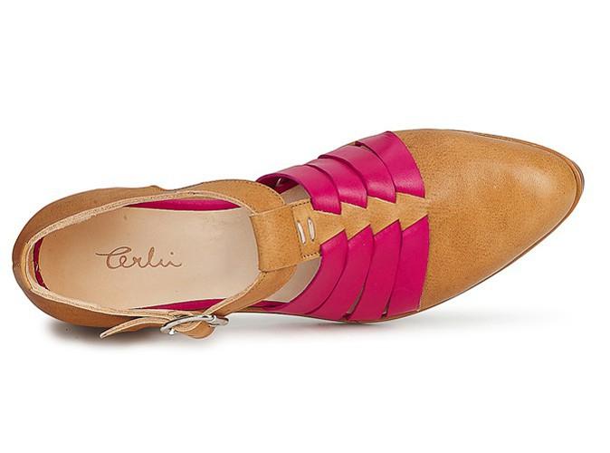 Sandales bicolores, Terhi Polkki chez spartoo.com, 255 €.