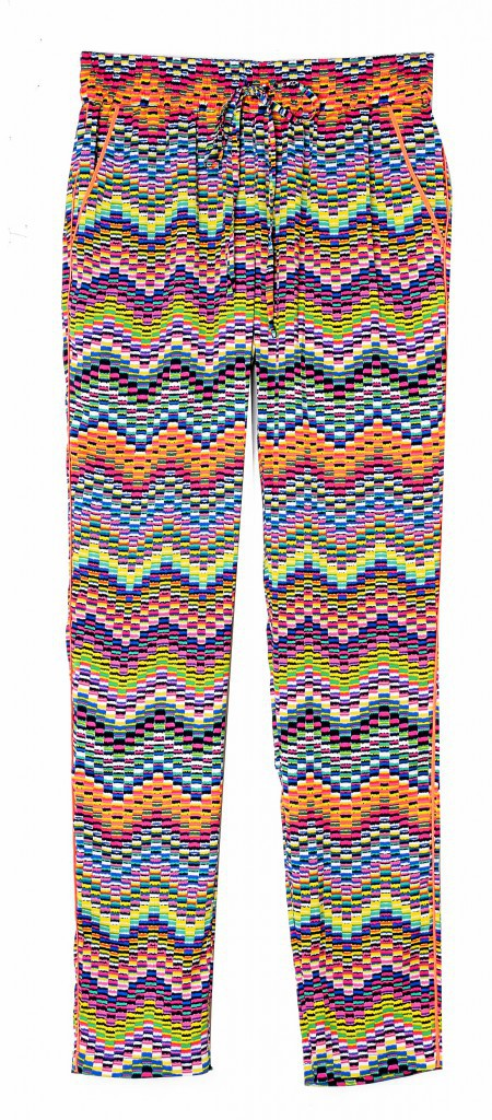Pantalon en viscose imprimé, Color Block 45 €