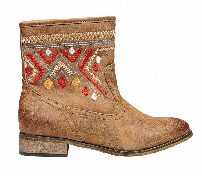Boots ethniques, Gémo , 35 €