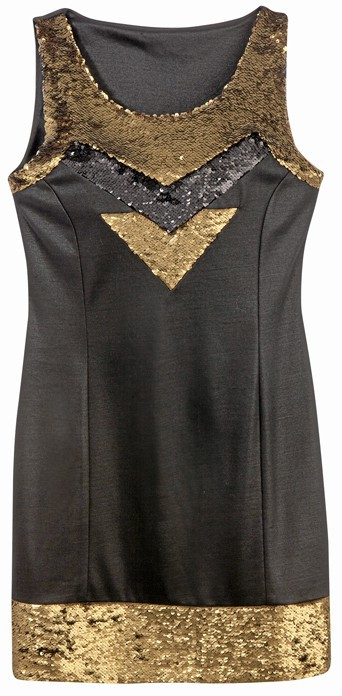 À sequins, Tex by Carrefour, 34,90 €