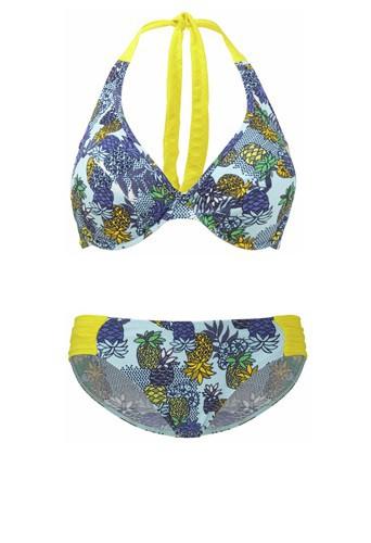 Deux-pièces à armatures imprimé ananas, Carmen Cleo by Panache sur viksen.fr, 43€ et 23€