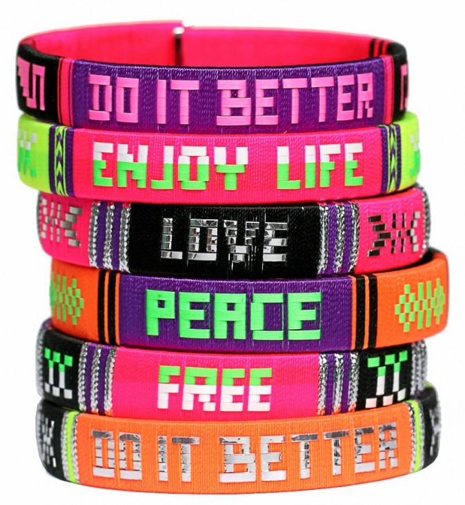 Bracelets fluo, By Rainbowlink 53 €