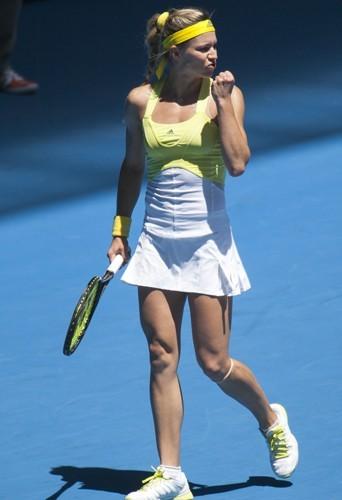 L'internationale russe Maria Kirilenko portait déjà les créations de Stella McCartney lors de l'Open d'Australie.