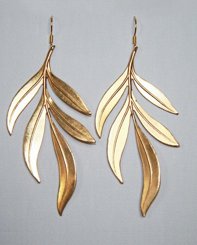 Boucles d'oreilles en laiton doré à l'or fin, By Zia www.by-zia.com 29 €