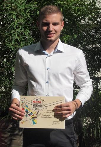Thomas Liévin vainqueur du concours Bata des jeunes créateurs