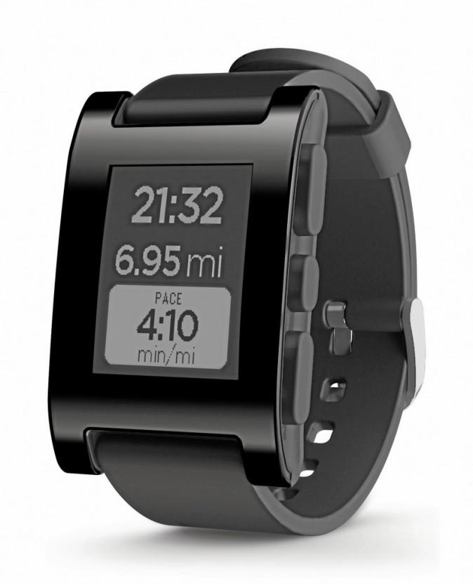 Coup de coeur pour la montre connectée ! Pebble Jet Black, sur getpebble.com, 100€