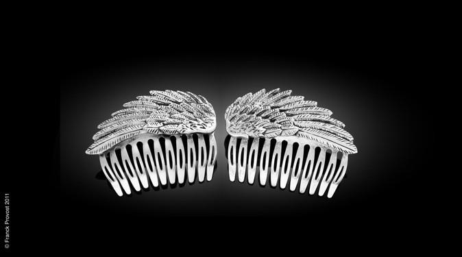 Collection de bijoux cheveux Franck Provost pour le 64 ème Festival de Cannes: Le peigne double argenté