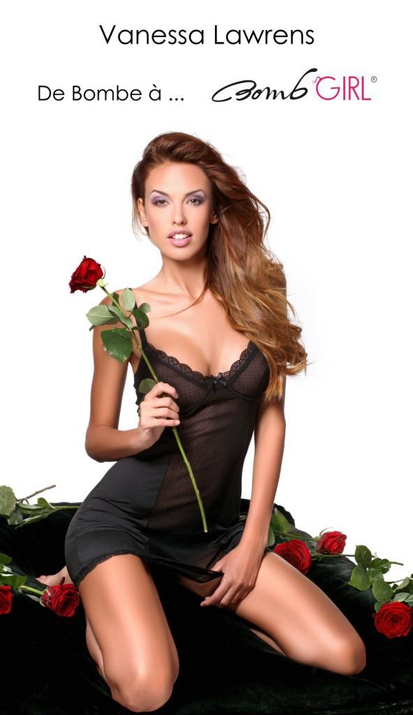 """Vanessa Lawrens : l'Ange devient une diablesse sexy pour """"Bomb Girl"""", une marque de lingerie française !"""