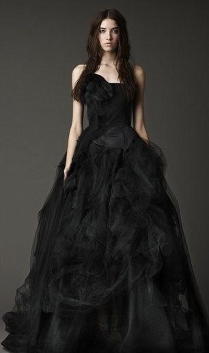 robe mariee noire vera wang la mode des robes de france On vera wang robe de mariée noire