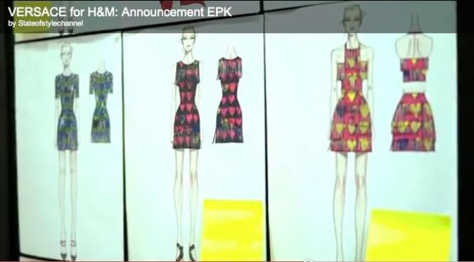 Les croquis de la collection femme: flashy et imprimé les codes de Versace!