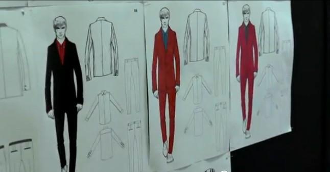 Les croquis de la collection homme: des costumes sublimes!