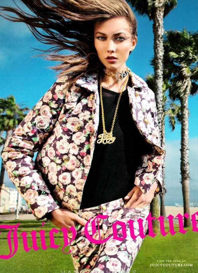 Karlie Kloss pour Juicy Couture automne/hiver 2013