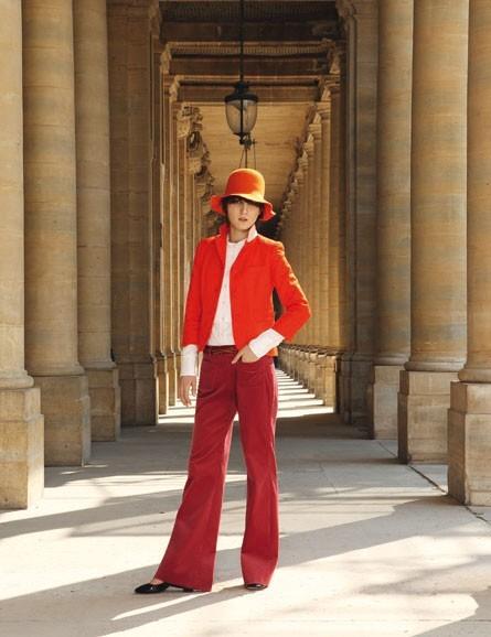 Le look flare orange et bordeaux de Mademoiselle Tara !