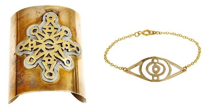Zima Cuff 280$ (gauche) et Third Eye Bracelet 160$ (droite)