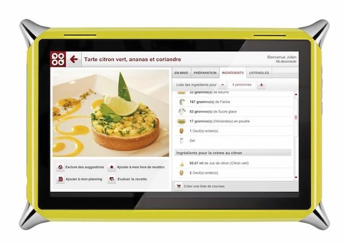 Tablette tactile livre de cuisine, QOOQ 349 €