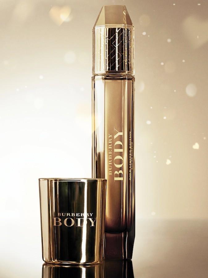 Eau de parfum, Burberry Body Gold. Édition limitée.90€les85ml.