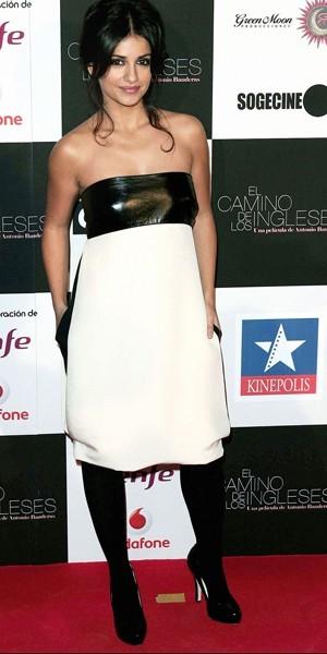 La robe bustier version Monica Cruz